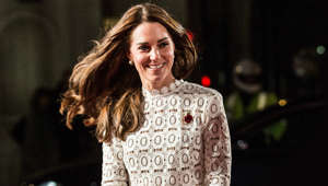 Catherine, Duchess of Cambridge looking at the camera