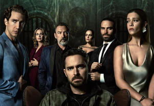 Eugenio Siller, Ginés García Millán, Manolo Cardona, Ana Lucia Dominguez, Alejandro Nones posing for a photo: The second season of Mexican mystery show Who Killed Sara? is released on Netflix in May