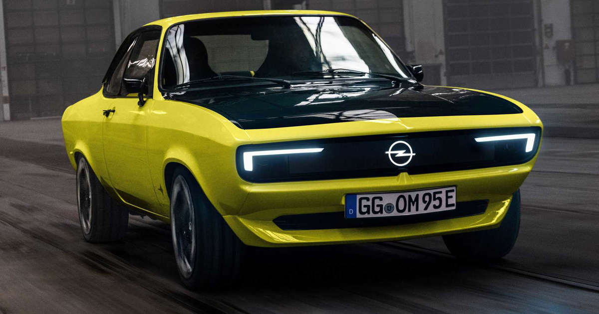 Opel Manta GSe ElektroMOD brings back the sports coupe as an EV