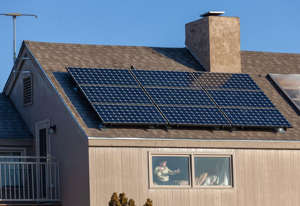 the roof of a building: How long will it take before your solar panels start making you money? Stephen Shankland/CNET