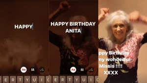 graphical user interface, website: Brian May celebrates Anita Dobson's birthday