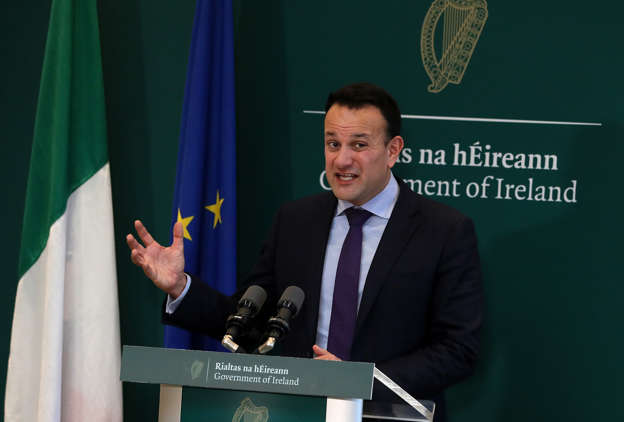 Taoiseach Leo Varadkar during a media briefing at Government Buildings in Dublin. (Photo by Brian Lawless/PA Images via Getty Images)