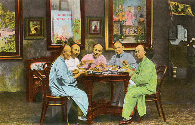 """Slide 12 of 31: Although true colour film didn't become widely available until the mid-1930s, photographers experimented with hand colouring as early as the 1850s, according to the Science and Media Museum. In the early 20th century, many photos of Chinese street life, like this one, were colourized by hand or by a process called photocrom, and then """"developed as postcards to be sold to foreign visitors,"""" according to the Asia Society. """"In 1911, the Xinhai Revolution marked the end of China's last imperial dynasty (the Qing) and began the Republican era, which lasted until the foundation of the People's Republic in 1949. Around this time, foreign tourists and long-term expatriates poured into the country,"""" the Asia Society blog states, and the market for postcard images like this one took off."""