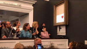 "Subscribe to our channel: https://www.youtube.com/channel/UCKRG8y9o2S8tzFWXJU4nbvQ?sub_confirmation=1  UPDATE: Following the event at Sotheby's, Banksy followed up with a video in which he said the plan was for the entire painting to be shredded but the shredder malfunctioned. Watch his explainer here: https://www.youtube.com/watch?v=vxkwRNIZgdY  Read the original story below.  Ever the merry prankster, Bristol-born artist Banksy caused quite the stir by shredding his 2006 spray paint on canvas ""Girl with Balloon"" painting, shortly after it was sold at a Sotheby's auction on Friday (October 5, 2018) night. Sotheby's did not provide info on how they acquired the painting. According to the catalog, it was purchased from Banksy by the present owner in 2006.  On Instagram, Banksy uploaded a video explaining he had build a shredder into the frame of the painting that he planned to activate were it ever sold at auction. On the video, a graphic reads, ""A few years ago, I secretly build a shredder into a painting in case it was ever put up for auction...""  The video shows Banksy building the shredder into the painting and then switches to Sotheby's where the painting is being bid on. Not long after the winning bid of £1.04 million was declared, an alarm went off and the painting began to move through the shredder. It appears only the top two-thirds of the painting was shredded.  Banksy posted/deleted this video on Instagram (@bansky) but then put it back up  on the afternoon of October 6th with the caption, ""The urge to destroy is also a creative urge,"" a quote attributed to Pablo Picasso.  ""We've been Banksy-ed,"" Alex Branczik, Sotheby's European head of contemporary art said at a news conference afterward. ""I'll be quite honest, we have not experienced this situation in the past, where a painting is spontaneously shredded upon achieving a record for the artist.""  Branczik emphasized he was ""not in on the ruse.""  Given the infamy of the event, experts say the painting is now worth much more than the original selling price.   #banksy #sothebys  Note: Comments and feedback are very much appreciated, but we will remove any one-dimensional insults or attacks.   CONNECT WITH SNOBETTE Web: http://www.thesnobette.com  Twitter: http://twitter.com/thesnobette.com Facebook: http://www.facebook.com/thesnobette Instagram: http://instagram.com/thesnobette Pinterest: http://www.pinterest.com/snobette Snapchat: TheSnobette YouTube: http://youtube.com/snobette Vine: https://vine.co/TheSnobette"