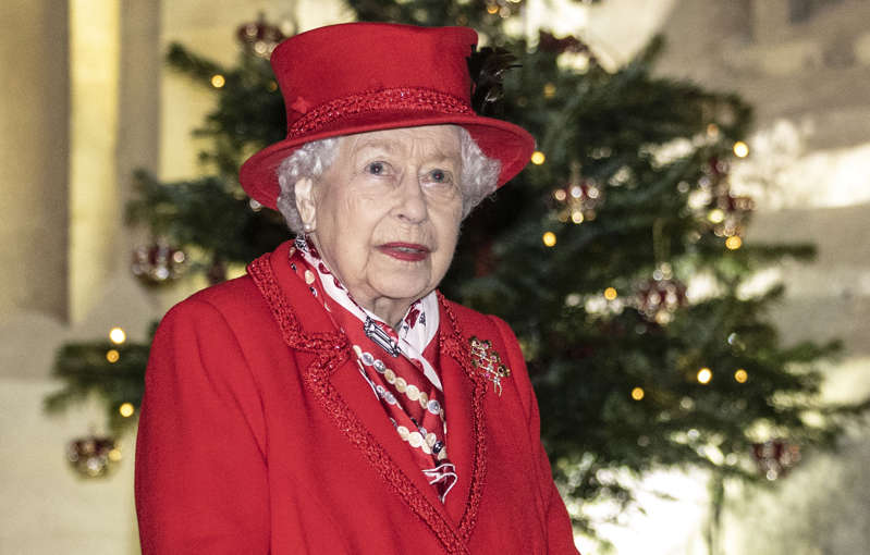 Queen Elizabeth II thanks volunteers and key workers at Windsor Castle on December 08, 2020 in Windsor, England. The Queen and members of the royal family gave thanks to local volunteers and key workers for their work in helping others during the coronavirus pandemic and over Christmas at Windsor Castle in what was also the final stop for the Duke and Duchess of Cambridge on their tour of England, Wales and Scotland.