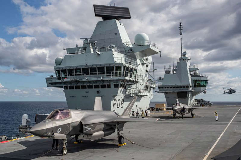 a large ship in the water: The vessels will restock Royal Navy ships, including the Queen Elizabeth-class aircraft carriers