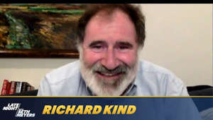 Richard Kind smiling for the camera: Richard Kind explains how he grew his beard for a project, gushes over his new puppy and tells the story of a time he had a close encounter with a ghost.  Late Night with Seth Meyers.  Stream now on Peacock: https://bit.ly/3erP2gX  Subscribe to Late Night: http://bit.ly/LateNightSeth   Watch Late Night with Seth Meyers Weeknights 12:35/11:35c on NBC.   Get more Late Night with Seth Meyers: http://www.nbc.com/late-night-with-seth-meyers/   LATE NIGHT ON SOCIAL Follow Late Night on Twitter: https://twitter.com/LateNightSeth Like Late Night on Facebook: https://www.facebook.com/LateNightSeth Follow Late Night Instagram: http://instagram.com/LateNightSeth Late Night on Tumblr: http://latenightseth.tumblr.com/   Late Night with Seth Meyers on YouTube features A-list celebrity guests, memorable comedy, and topical monologue jokes.   GET MORE NBC Like NBC: http://Facebook.com/NBC Follow NBC: http://Twitter.com/NBC NBC Tumblr: http://NBCtv.tumblr.com/ YouTube: http://www.youtube.com/nbc NBC Instagram: http://instagram.com/nbc   Richard Kind Reveals the Trick for a Spot-On Richard Kind Impression - Late Night with Seth Meyers https://youtu.be/I3bbtnppRVo   Late Night with Seth Meyers http://www.youtube.com/user/latenightseth