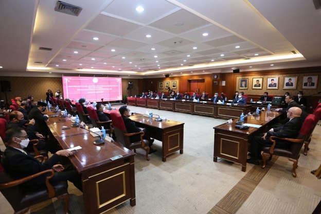 Penyerahan Hasil Asesmen Tes TWK Pegawai KPK di Kantor Kementerian PANRB, Selasa (27/4). Foto: Dok. KemenPAN RB