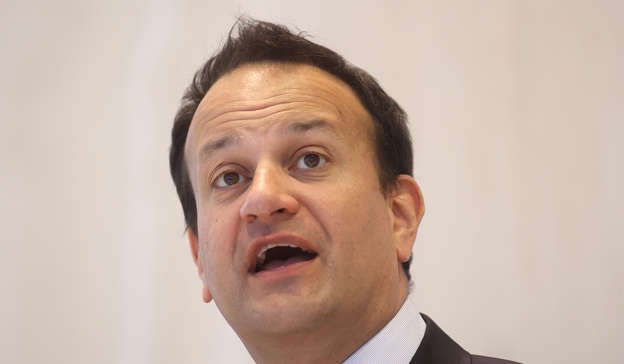 Leo Varadkar wearing a suit and tie smiling and looking at the camera: A senior Fine Gael source said: 'Leo [Varadkar] is not at all pleased. He has made it very clear this is no time to be messing and that Darragh [O'Brien] needs our support'. Pic: Sam Boal/RollingNews.ie