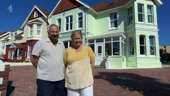 a man standing in front of a building: Four in a Bed: A look at Devon bed and breakfast