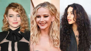 Emma Stone, Jennifer Lawrence, Vanessa Hudgens posing for the camera: Big hair was all the rage in the 1980s. Celebrities Julia Roberts, Madonna, and Farrah Fawcett were famous for their perms-flowing, curly waves held in place by a can's worth of hair spray. Then suddenly, the perm was history.But styling techniques have come a long way over the last 30 years, and getting a perm today is quite different from the way it was achieved back in the heady '80s. Browse the gallery and take a look at how celebrities used to wear their hair and compare the style with today's modern makeover.