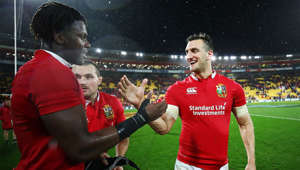 Sam Warburton holding a football ball: Warburton backs Itoje to be future Lions captain