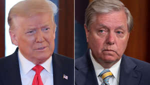 Donald Trump, Lindsey Graham are posing for a picture