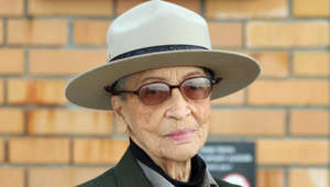 Betty Reid Soskin wearing a hat