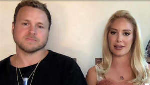 Spencer Pratt, Heidi Montag looking at the camera