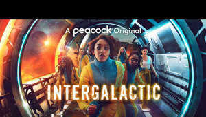 "text: Intergalactic is streaming on Peacock May 13th: https://pck.tv/3nV19JU  Written by award-winning showrunner, Julie Gearey (""Prisoners' Wives,"" ""Cuffs,"" ""Secret Diary of a Call Girl""), the series tells the story of fearless young cop and galactic pilot, Ash Harper (""Savannah Steyn""), who has her glittering career ripped away from her after being wrongly convicted of a treasonous crime and exiled to a distant prison colony. But on the way there, Ash's fellow convicts stage a mutiny and seize control of their prison transfer ship. With the flight crew dead, mob leader Tula Quik (""Sharon Duncan-Brewster""), is intent on reaching the free world – Arcadia – with her gang; and Ash is the only pilot who can get them there. Ash is forced to join them on the run towards a distant galaxy and an uncertain future."