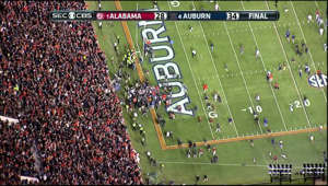 map: Auburn returns missed field goal attempt for a touchdown to beat Alabama.
