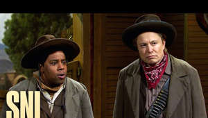 Kenan Thompson, Elon Musk are posing for a picture: A group of cowboys (Elon Musk, Kenan Thompson, Beck Bennett, Alex Moffat) can't agree on a plan to take down a powerful gang.  Saturday Night Live. Stream now on Peacock: https://pck.tv/3uQxh4q  Subscribe to SNL: https://goo.gl/tUsXwM Stream Current Full Episodes: http://www.nbc.com/saturday-night-live   WATCH PAST SNL SEASONS Google Play - http://bit.ly/SNLGooglePlay iTunes - http://bit.ly/SNLiTunes   SNL ON SOCIAL SNL Instagram: http://instagram.com/nbcsnl SNL Facebook: https://www.facebook.com/snl SNL Twitter: https://twitter.com/nbcsnl SNL TikTok: https://www.tiktok.com/@nbcsnl   GET MORE NBC Like NBC: http://Facebook.com/NBC Follow NBC: http://Twitter.com/NBC NBC Tumblr: http://NBCtv.tumblr.com/ YouTube: http://www.youtube.com/nbc NBC Instagram: http://instagram.com/nbc  #SNL #ElonMusk #MileyCyrus #SNL46