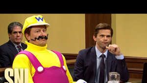 Mikey Day et al. sitting at a table: A lawyer (Mikey Day) attempts to prove Wario (Elon Musk) is not responsible for Mario's murder.  Saturday Night Live. Stream now on Peacock: https://pck.tv/3uQxh4q  Subscribe to SNL: https://goo.gl/tUsXwM Stream Current Full Episodes: http://www.nbc.com/saturday-night-live   WATCH PAST SNL SEASONS Google Play - http://bit.ly/SNLGooglePlay iTunes - http://bit.ly/SNLiTunes   SNL ON SOCIAL SNL Instagram: http://instagram.com/nbcsnl SNL Facebook: https://www.facebook.com/snl SNL Twitter: https://twitter.com/nbcsnl SNL TikTok: https://www.tiktok.com/@nbcsnl   GET MORE NBC Like NBC: http://Facebook.com/NBC Follow NBC: http://Twitter.com/NBC NBC Tumblr: http://NBCtv.tumblr.com/ YouTube: http://www.youtube.com/nbc NBC Instagram: http://instagram.com/nbc  #SNL #ElonMusk #MileyCyrus #SNL46