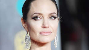 a close up of Angelina Jolie