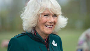 Camilla, Duchess of Cornwall smiling for the camera: Camilla: Experts on 'close relationship' with Prince Philip