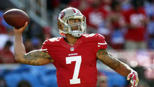 San Francisco 49ers quarterback Colin Kaepernick gets ready to play the Chicago Bears at Levis Stadium.