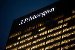 JP Morgan headquarters in Canary Wharf, London.