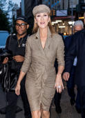 Stylist Law Roach and singer Celine Dion are seen on the streets of Manhattan on April 30 in New York City.