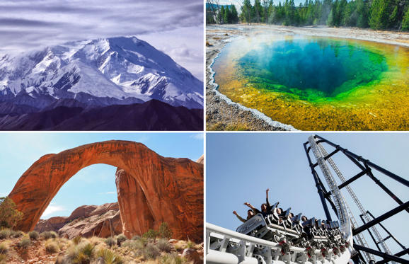 Slide 1 of 13: Plunging canyons, swelling rivers, sunny cities and frigid mountains, the U.S.A. offers quite a handful to the inquisitive traveler. We get you a selection of record-setting tourist attractions to help you with your travel plans.