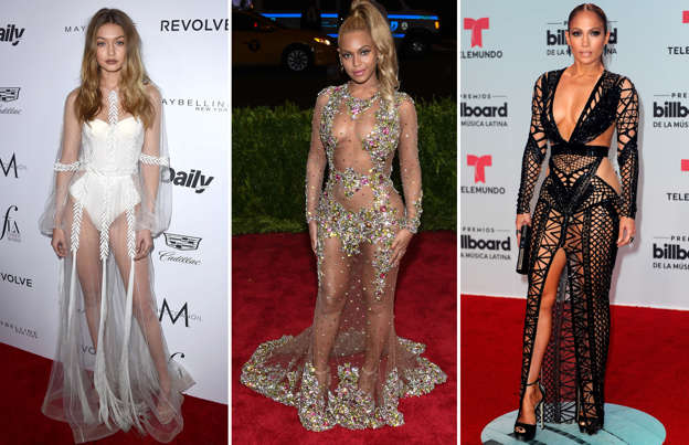 bf96baaa Sheer delight: Celebrities rocking see-through fashion