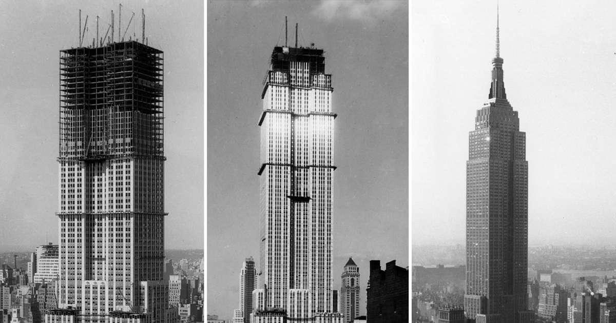 L histoire de la construction de l empire state building - Construction en rondins empiles ...