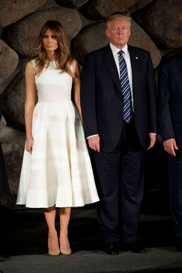 Red, white and blue: Melania Trump in American colors