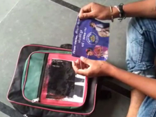 Akhilesh's 'hidden face' on school bags in Gujarat