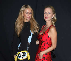 Jeremy Scott show, Spring Summer 2017, New York Fashion Week, USA - 12 Sep 2016 Paris Hilton and Nicky Hilton Rothschild in the front row