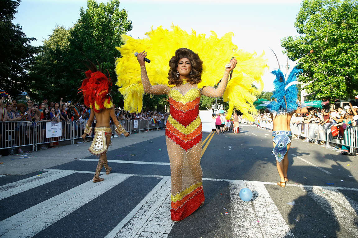 Slide 33 of 57: Parade participants are seen during the 2017 Capital Pride Parade on June 10, 2017 in Washington, DC.