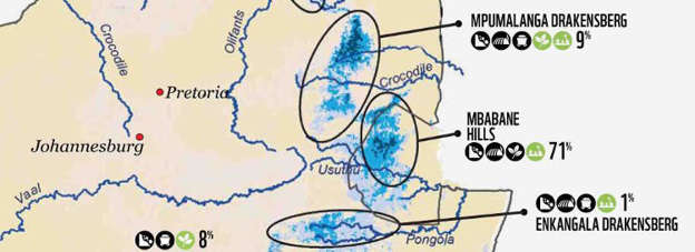 Mabola is part of the Enkangala national freshwater ecosystem priority area.