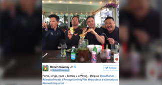 Robert Downey Jr. shared an epic photo with his 'Avengers Bros'