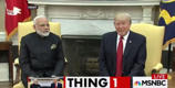 Trump and Indian Prime Minister Modi hug it out