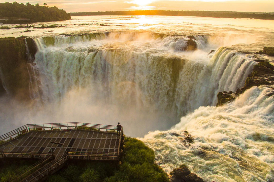 19/23 SLIDES © Sunrise at the Iguazu Falls Balcony By DroneFilmsProject