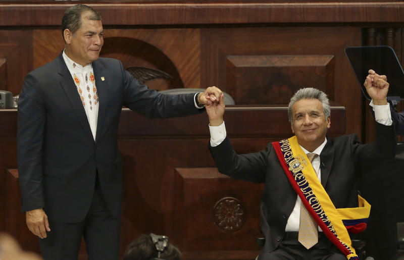 Lenin Moreno y Rafael Correa