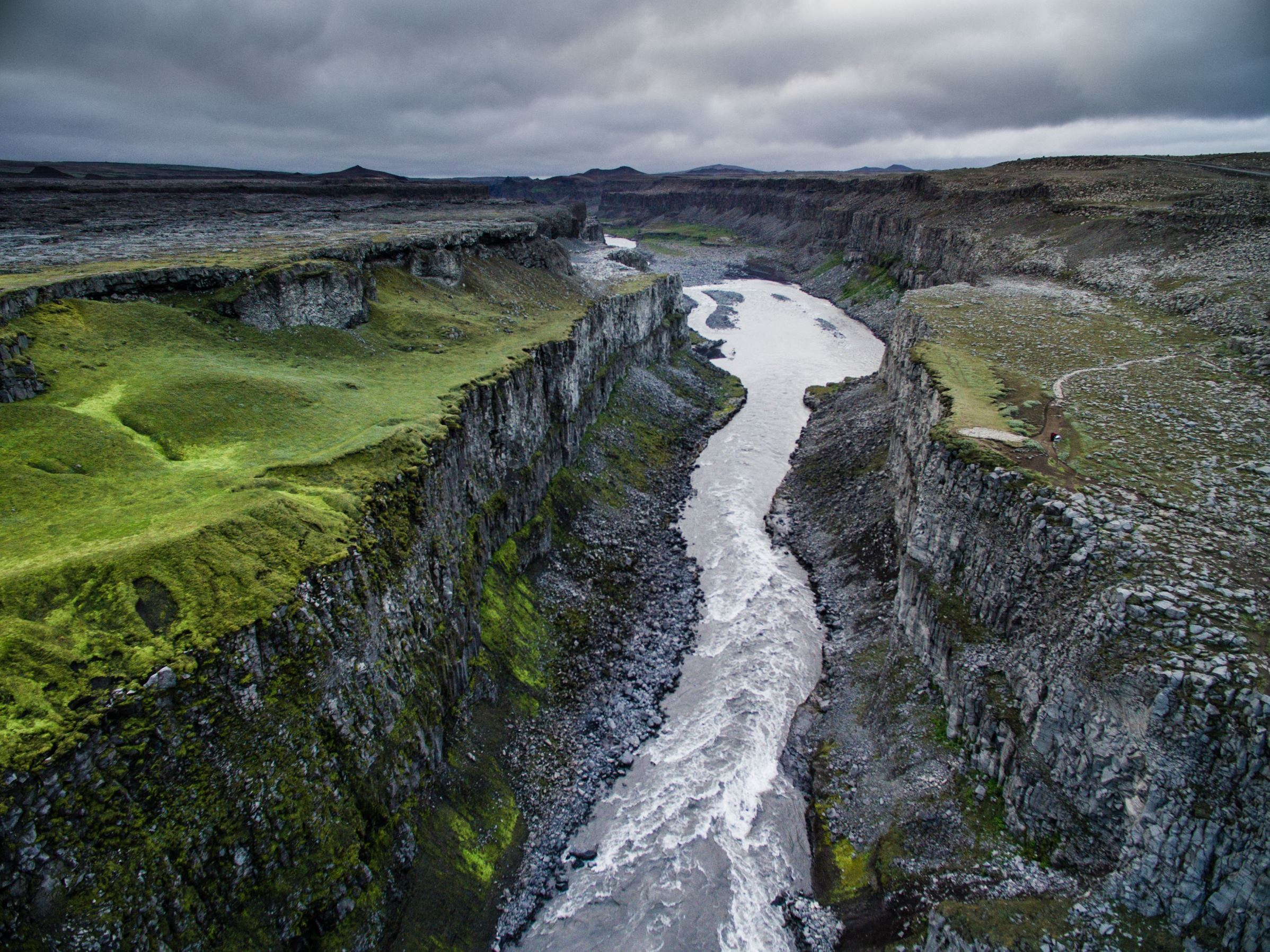 Slide 84 of 100: Polish photographer Jakub Polomski used a drone to capture stunning aerial images of Iceland. The landscape photographer drove nearly 2,500 miles around the country using a drone to capture these aerial images.