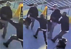 Noble stranger saves blind man from oncoming train