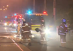 The fire broke out at the Namaskar Indian Restaurant on Glenferrie Road, Malvern,  just after midnight.