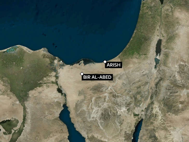 The attack happened in Sinai