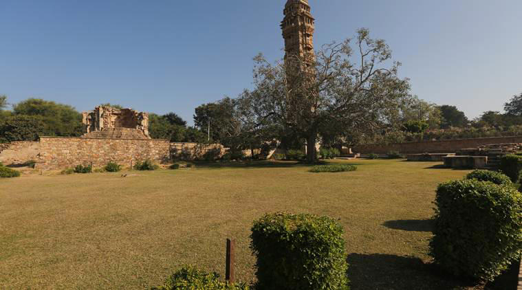 The spot in the precinct of the Chittorgarh fort, Rajasthan where Rani Padmavati and hundreds of other Rajput women are said to have committed Jauhar after the conquest of Chittorgarh by Allaudin Khalji.