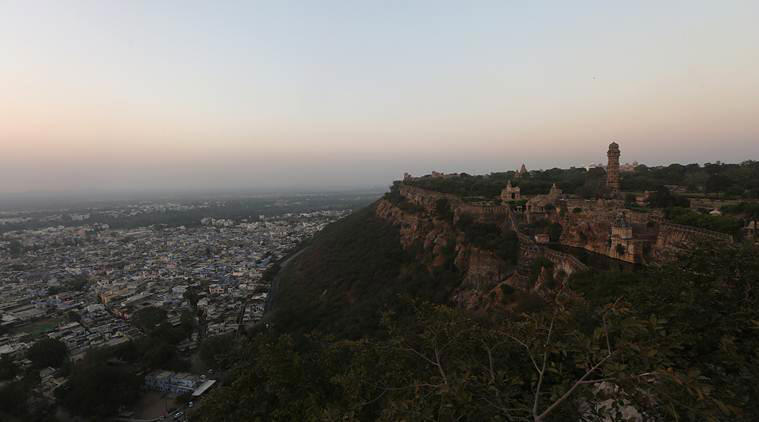 View of the Chittorgarh Fort in Rajasthan, well known for the beauty of Rani Padmavati and the attack by Allauddin Khilji in the 14th century.