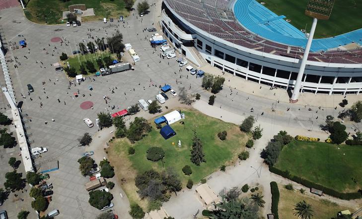 Así lucen los alrededores del Estadio Nacional, uno de los principales lugares de votación durante estas elecciones presidenciales 2017.