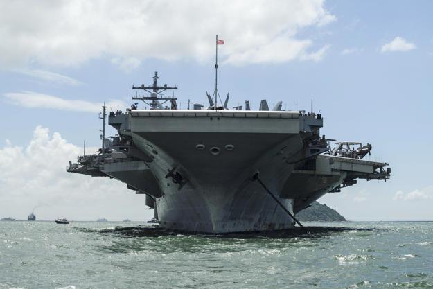 The USS Ronald Reagan (CVN-76) aircraft carrier.