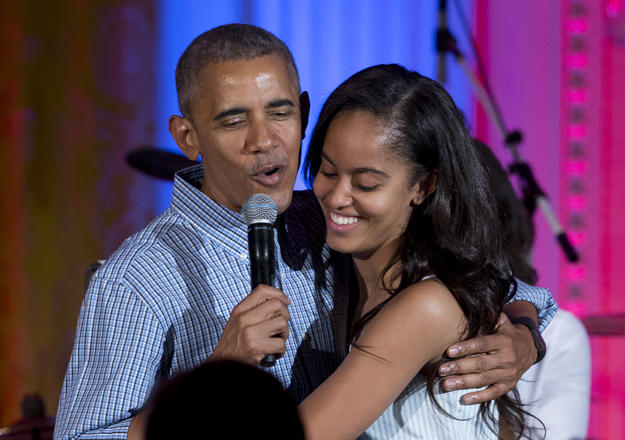 Barack Obama with daughter Malia