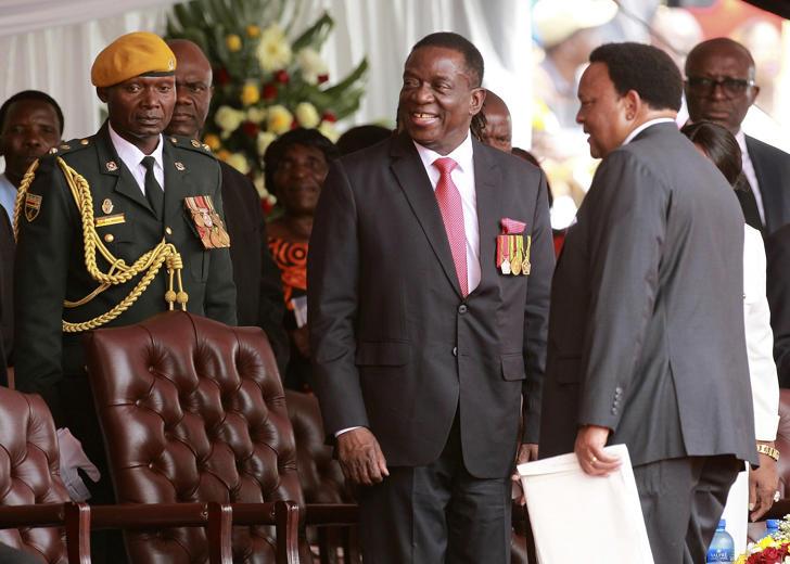 Zimbabwe's new president Emmerson Mnangagwa